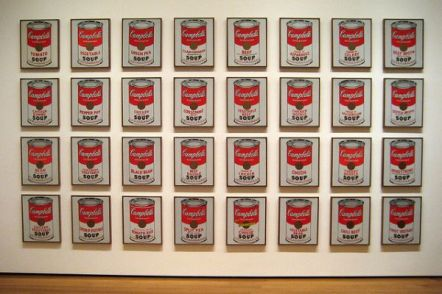 Campbell's Soup Cans, 32 cans, Andy Warhol