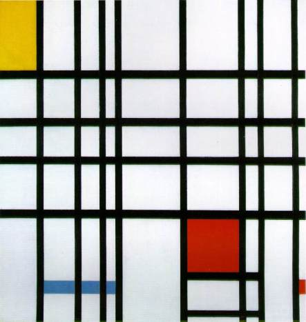 Piet Mondrian, Composition in Red, Blue, and Yellow, 1942