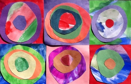 Kandinsky Concentric Circles Collage from wowartproject.com