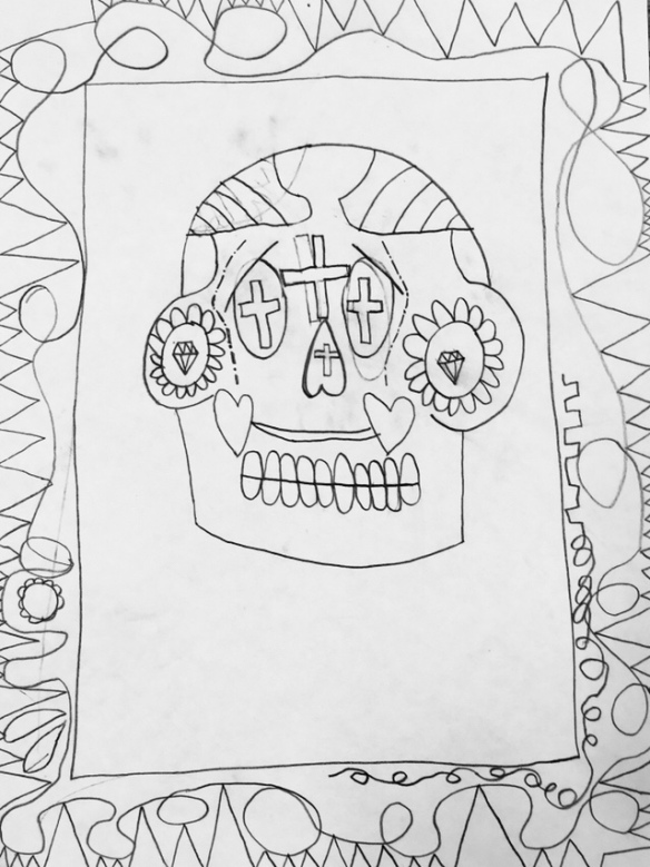 4th Grade Sugar Skull Drawings Wow Art Project